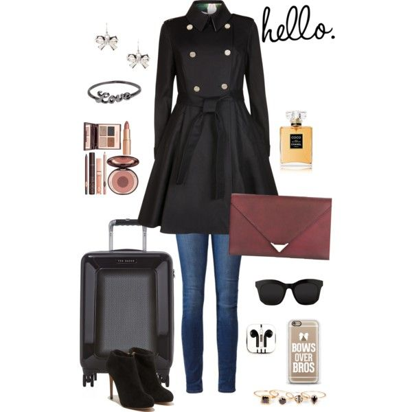 A fashion look from November 2014 featuring Ted Baker coats, Paige Denim jeans and Salvatore Ferragamo ankle booties. Browse and shop related looks.