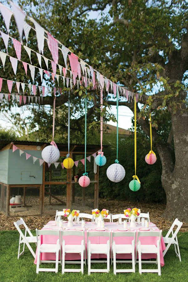 25 best ideas about garden birthday on pinterest kids for Backyard party decoration ideas