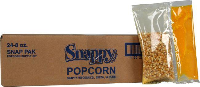 8 oz Snap Paks Popcorn Kernels