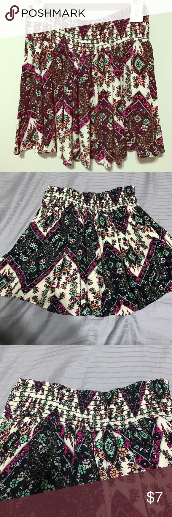 Flower tribal skirt Stretchy waist, flower tribal pattern, good material and flowey . LA Hearts Skirts Mini