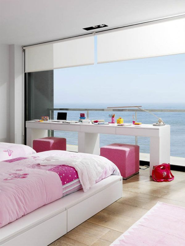Pure White House by Susanna Cots with pink accents! via @Freshome
