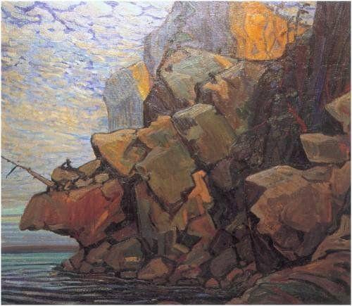 """Arthur Lismer (1885-1969) """"The Sheep's Nose, Bon Echo"""""""