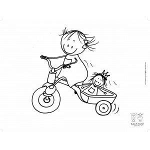 Placemat Rube  Rutje Meisje op fiets