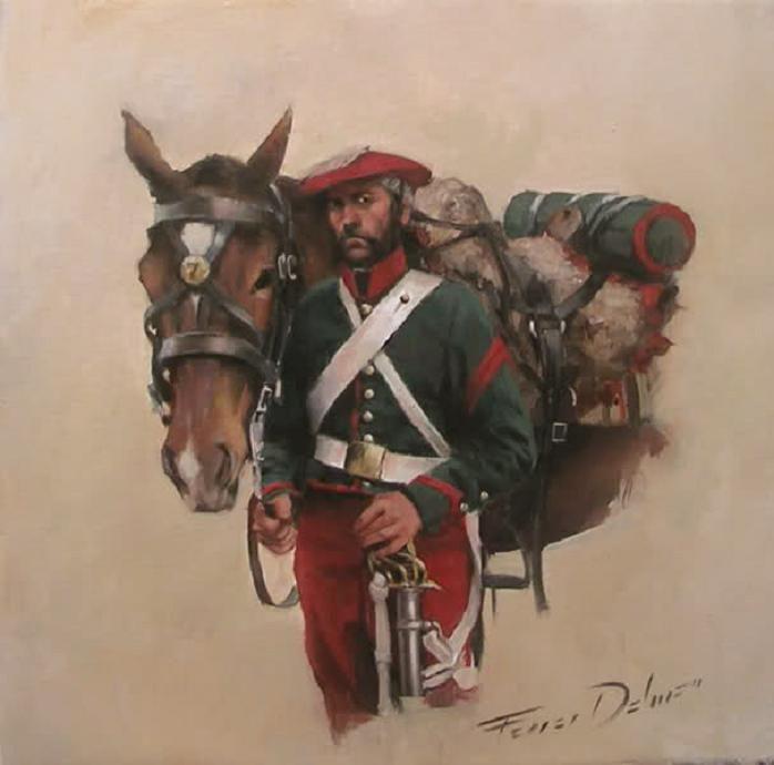 Homenaje Carlista, varias obras de Augusto Ferrer-Dalmau