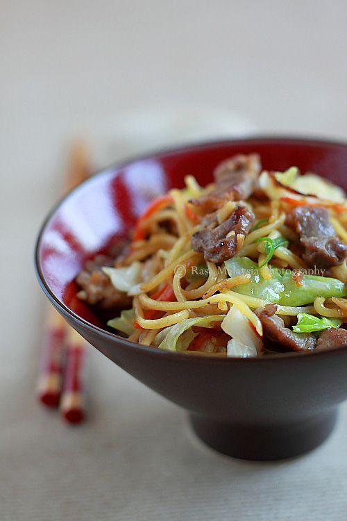 Yakisoba (Japanese Fried Noodles) | Recipe | Yakisoba ...