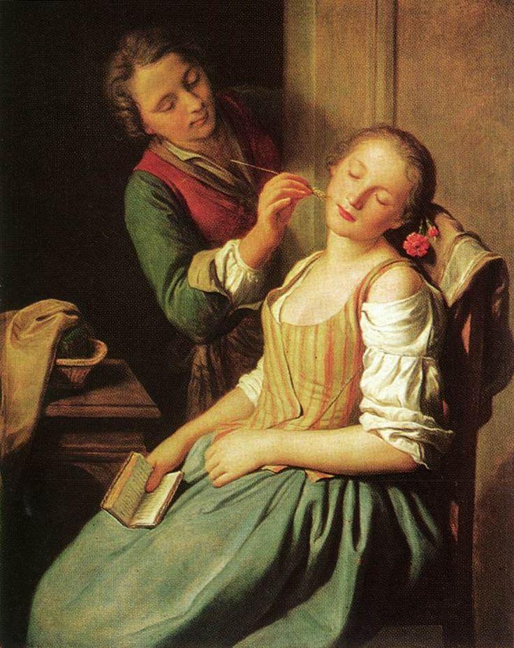 """Title:Sleeping Girl  Artist:Pietro Rotari  Country of Origin:Italy""  Painted before september 1762."