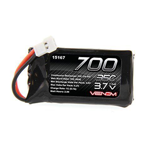 Venom 35C 1S 700mAh 3.7V LiPo Battery with Micro Losi  Plug