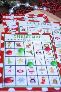 Free Printable Christmas Bingo Game and other activities