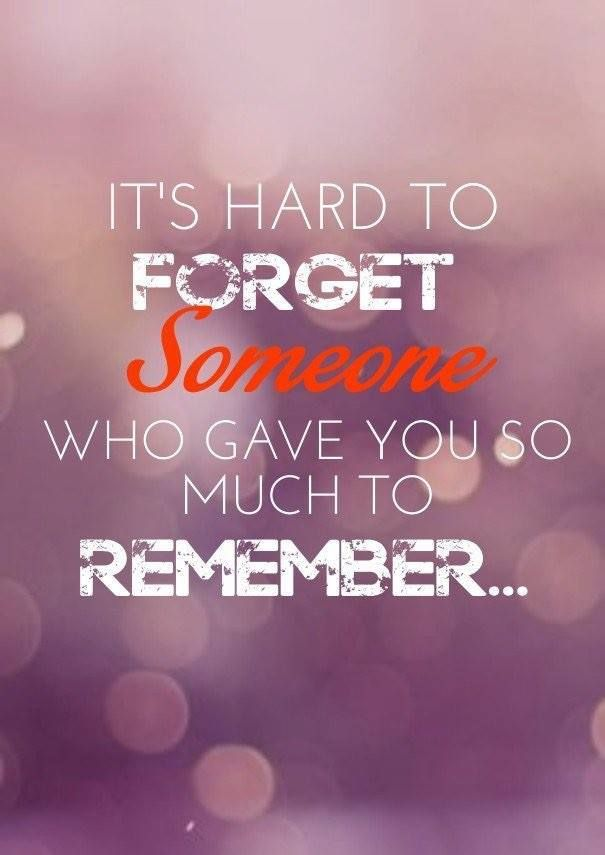 To hard forget you someone love is it The Ugly