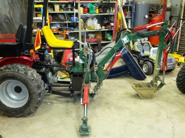 Homemade Trencher Attachment Tractor