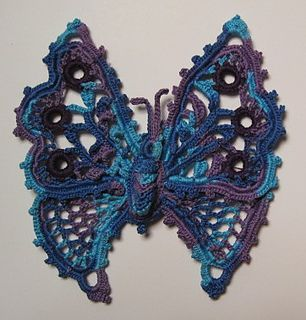 Butterfly by Eliza Taylor...published in Priscilla Irish Crochet Book, No. 2 (1912) This site / crochet book has many more free antique patterns with it.