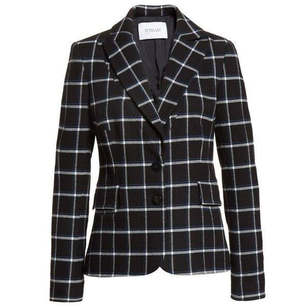 Women's Derek Lam 10 Crosby Elbow Patch Plaid Blazer (1,065 PEN) ❤ liked on Polyvore featuring outerwear, jackets, blazers, elbow patch jacket, blazer jacket, plaid blazer, checked jacket and 10 crosby derek lam