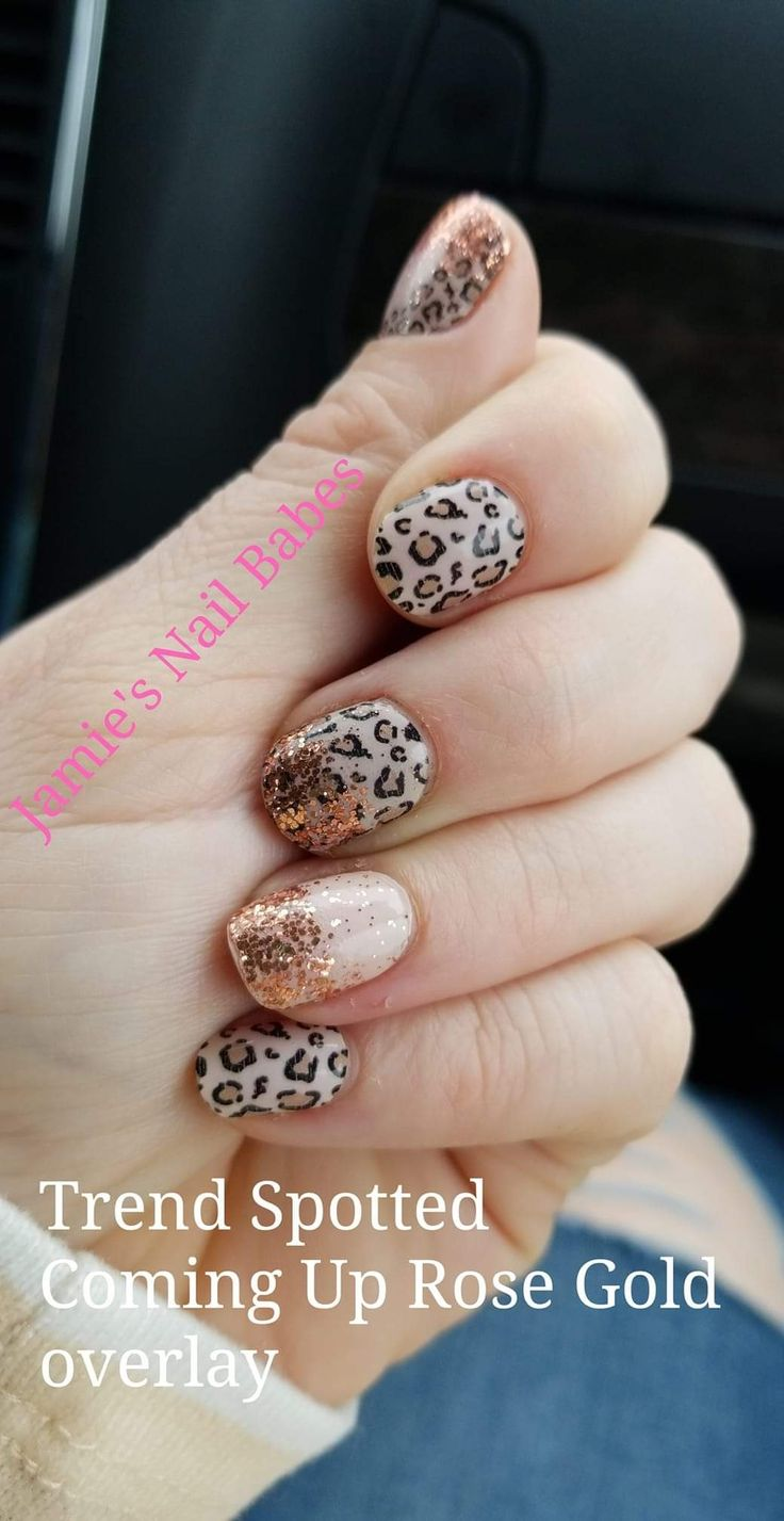 Love The Use Of Trend Spotted And Coming Up Rose Gold Overlay Leopard Print Going To Be The