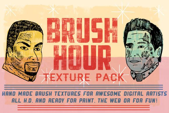 Check out BRUSH HOUR! - Texture Pack on Creative Market