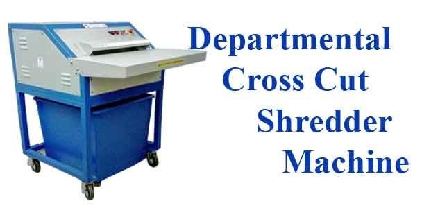 Raj Electricals manufactures various cross cut shredder machines.  Departmental Cross Cut Shredder Machine Heavy Duty Cross Cut Shredder Machine Industrial Cross Cut Shredder Machine Indigenously developed Departmental Cross Cut Shredder Machine is user-friendly, vibration free, robust-sturdy and can be easily maintained.  This Cross Cut Paper Shredder is used to shred thick paper and cartons,blister & glassins. More applications are mentioned below in salient features.  Salient features of…