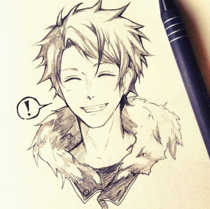 Anime sketch boy animation mha myheroacademia