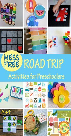 Mess-Free Road Trip Activities for Preschoolers
