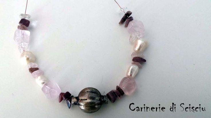 Quartz necklake   #handmade #carineriediscisciu   #ScisciuArt