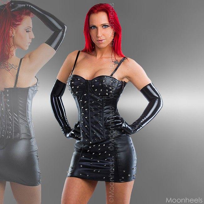 http://moonheels.nl/dresscode/leatherlook-partykleding/korsetten-topjes/2-delig-setje-van-korset-en-rokje-met-studs.html