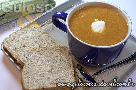 Receita de Sopa Creme de Abobrinha