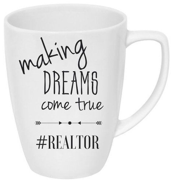 Making dreams come true hashtag realtor mug  White 14 oz mug