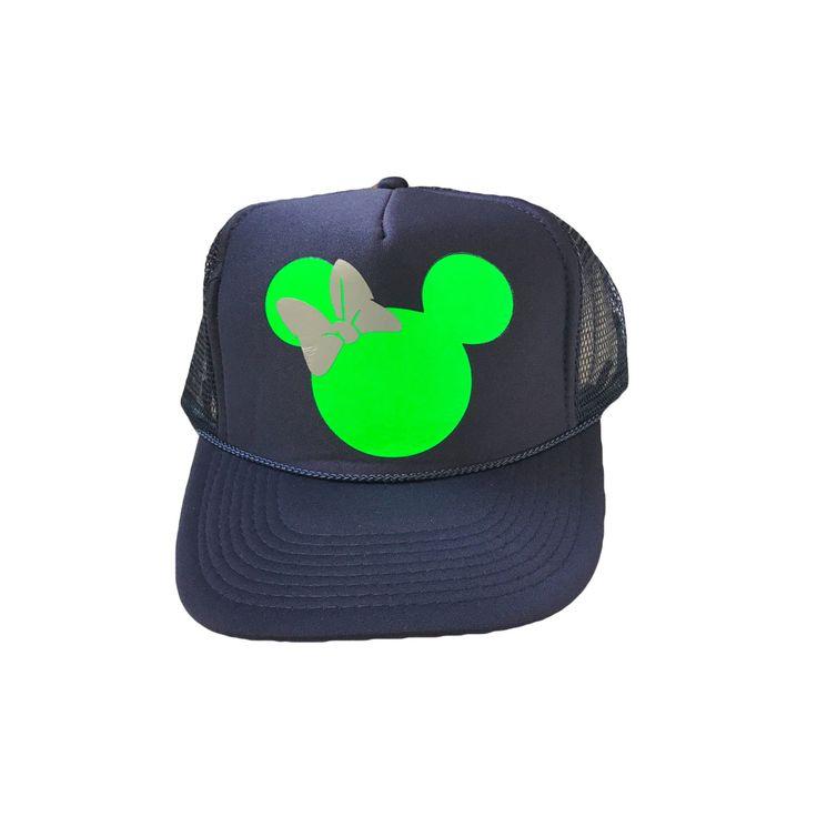 Minnie Trucker Hat- Seahawks Colors