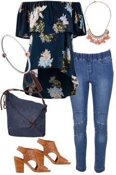 Outfit of the Day: Slip into relaxed style with this cool look! Floral and denim are combined to give to the perfect mix of your favourites. For a more casual look swap the heels for a lovely pair of tan flats. Shop the look: http://www.birdsnest.com.au/womens/outfits/rosy-glow-4