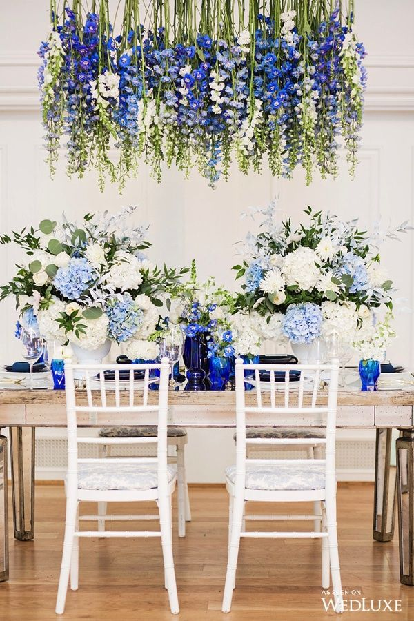 WedLuxe– Porcelain Blue | Photography: Denise Lin Photography Follow @WedLuxe for more wedding inspiration!