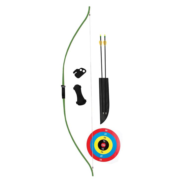 Bear Archery Bear Titan Bow Set 60 inches 20-29lb 22-28 inches Draw Right/Left Hand, Green