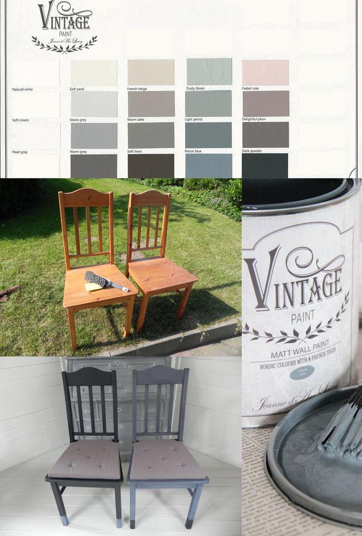 Nuova vita alle vecchie sedie con la #VintagePaint rinnova i tuoi mobili in…