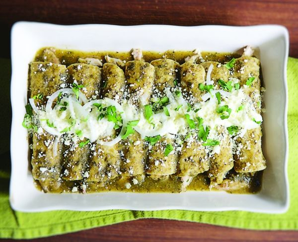 Enchaladas Verde - Rick Bayless | A Roasted Tomatillo Enchiladas Recipe to Know by Heart