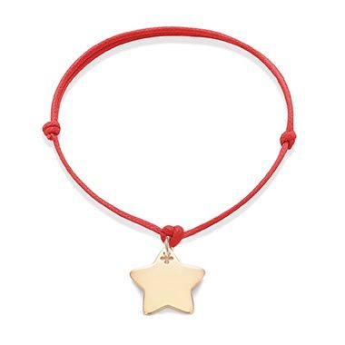 To suprise your loved ones make them a special gift for Christmas - string bracelet with gold-plated Star that is full of positive emotions. Choose a personal engraving. #lilou #christmas #bracelet #star #present #gift #elegant #original #engraving