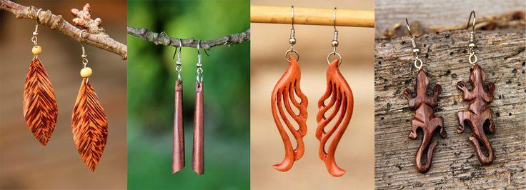 Náušnice | dřevěné | Pachamama - šperky a doplňky