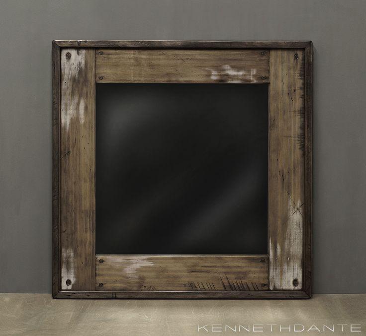 Reclaimed Wood Mirror Bathroom Mirror W White By KennethDante