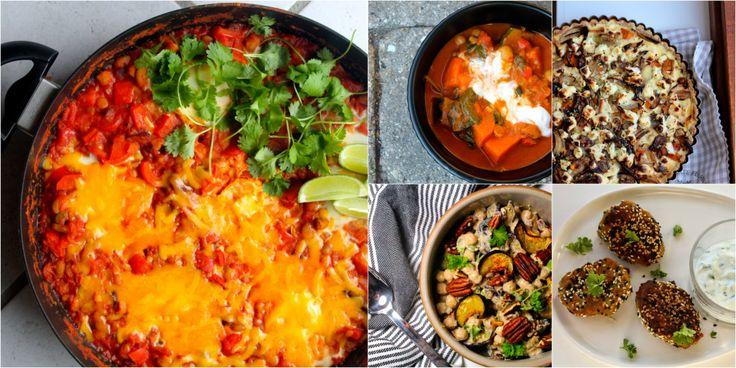 Madplan: Vegetarisk – mættende, proteinrig og grøn mad