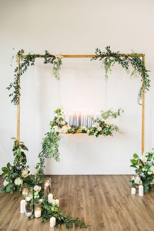 Romantic greenery ceremony on Aisle Perfect