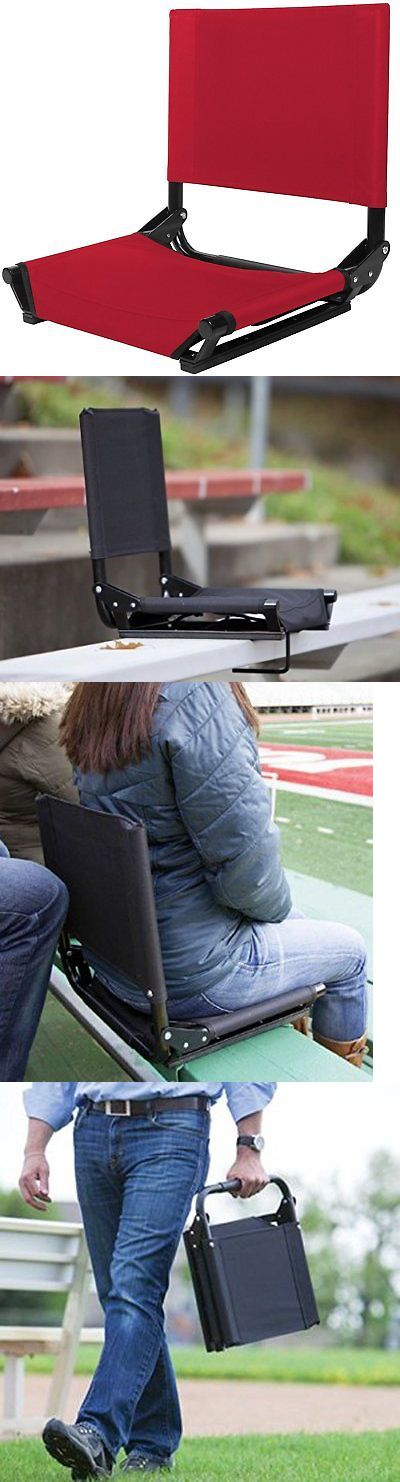 Other Outdoor Sports 159048: Bleacher Seats With Backs 17 Stadium Chair Red Comfy Sturdy Folding Portable -> BUY IT NOW ONLY: $47.58 on eBay!