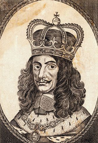 Portrait of Charles II, King of England Wearing the Royal Crown