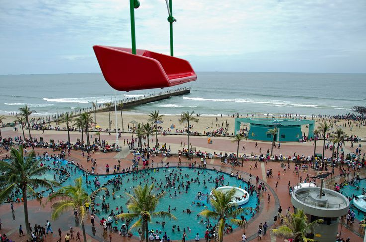 ride with a view - over Durban beachfront