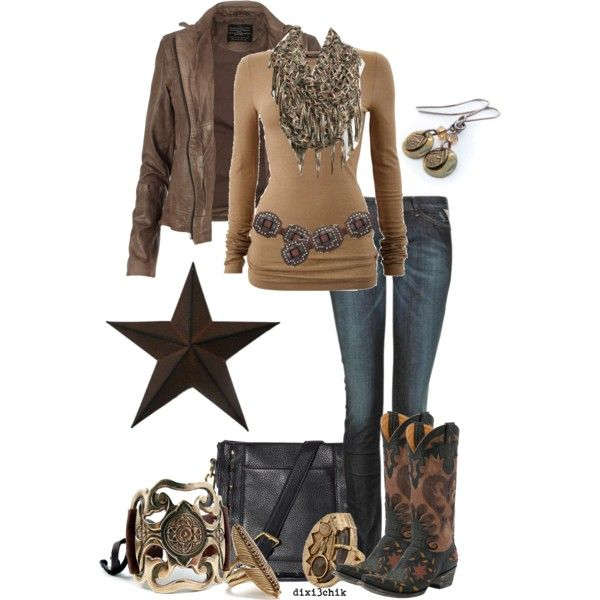 Except the boots.... Or the jewelry.... Or the bag.... So pretty much just the shirt, jeans, scarf and jacket