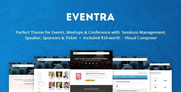 Eventra - Seminar, Meetups & Conferences WordPress Theme (Events) - http://creativewordpresstheme.com/eventra-seminar-meetups-conferences-wordpress-theme-events/