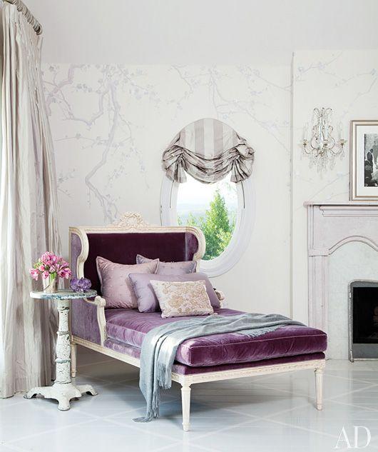 purple chaise