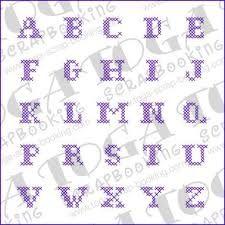 Toga Alphabet point de croix