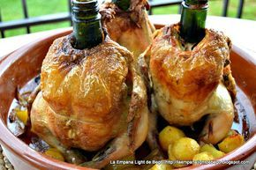 Pollo Sentado al Cava. Receta Fácil de Pollo Al Horno