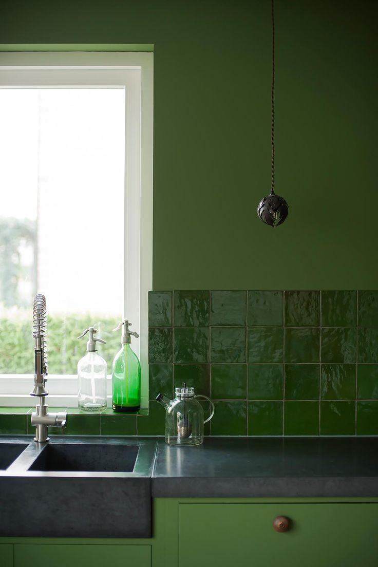 keuken mosgroen | www.twoonhuis.nl