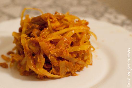 Chou blanc sauce indienne   Cahier de gourmandises
