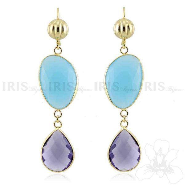 Orecchini di argento 925 con componenti di cristallo idrotermale #orecchini #earrings #fashion #jewellry #jewel #stones #silver #accessory