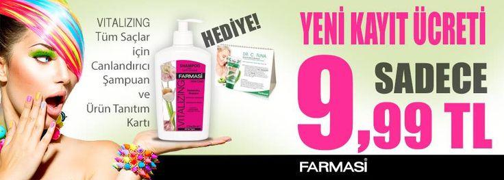 VITALİZİNG Tüm saçlar için canlandırıcı şampuan ve ürün tanıtım kartı HEDİYE. Yeni Kayıt Ücreti SADECE 9.99 TL http://www.farmasi.peacocksem.com/