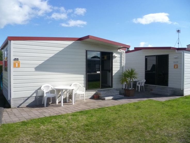 Kitchen Cabin exterior, Cosy Corner Holiday Park, Mt Maunganui, New Zealand