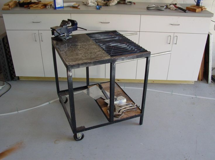 Homemade steel welding bench plan fabrication table - Plan fabrication table ...